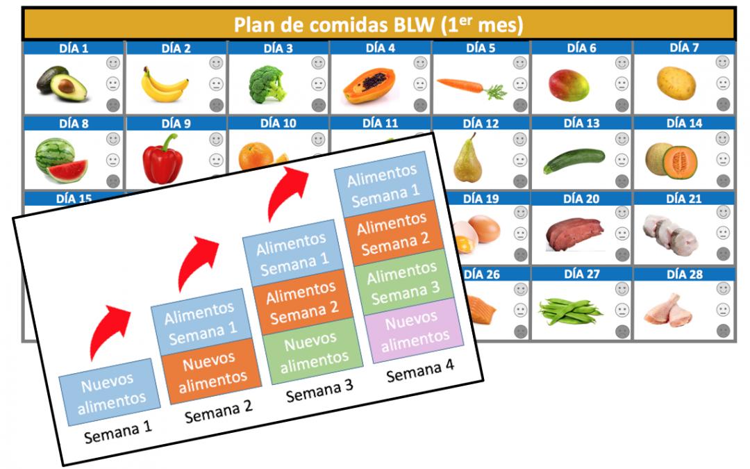 Baby led weaning (Parte II): cómo iniciarse con un plan de comidas blw