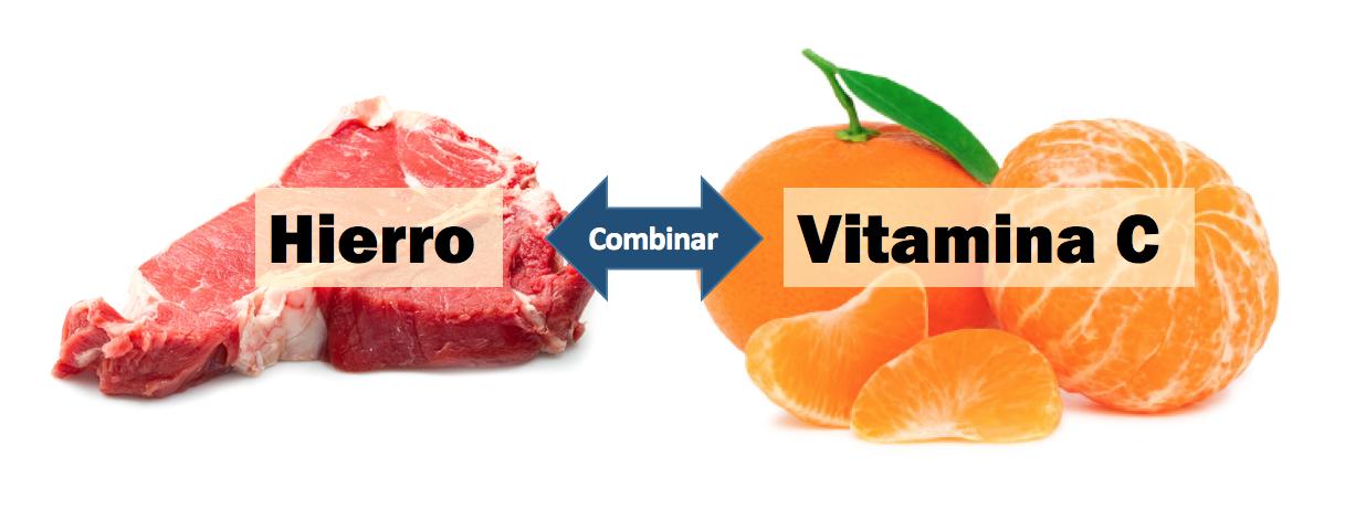 combinacion alimentos con hierro y vitamina C