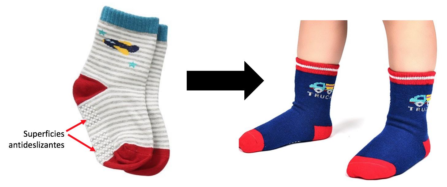 calcetines bebe antideslizantes
