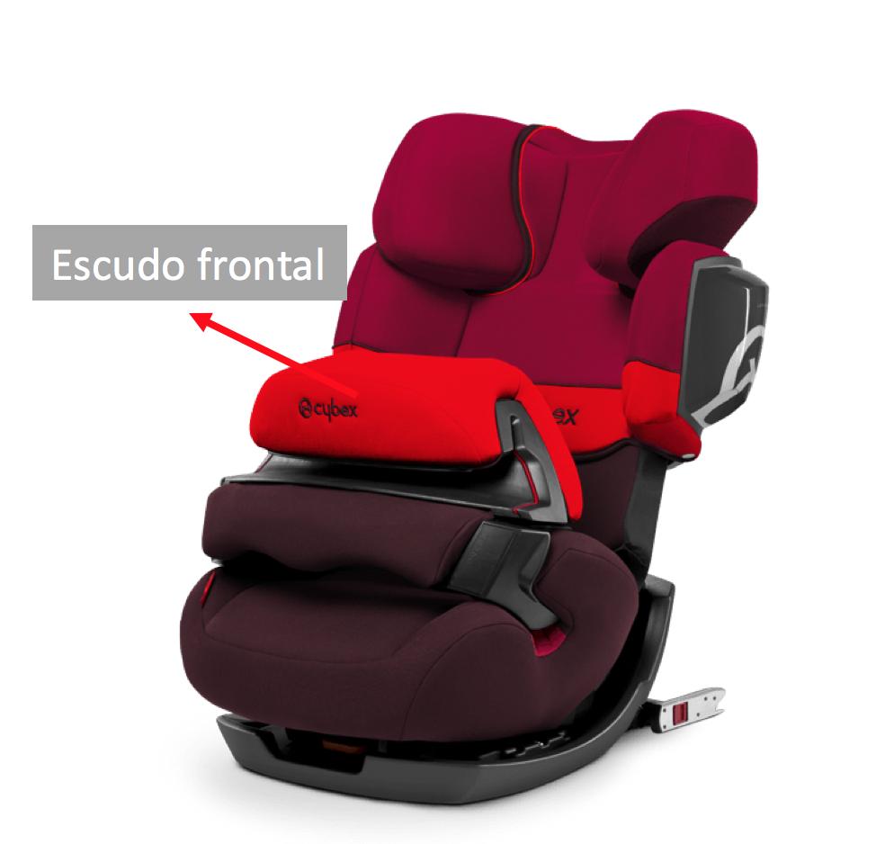 silla bebe con escudo frontal