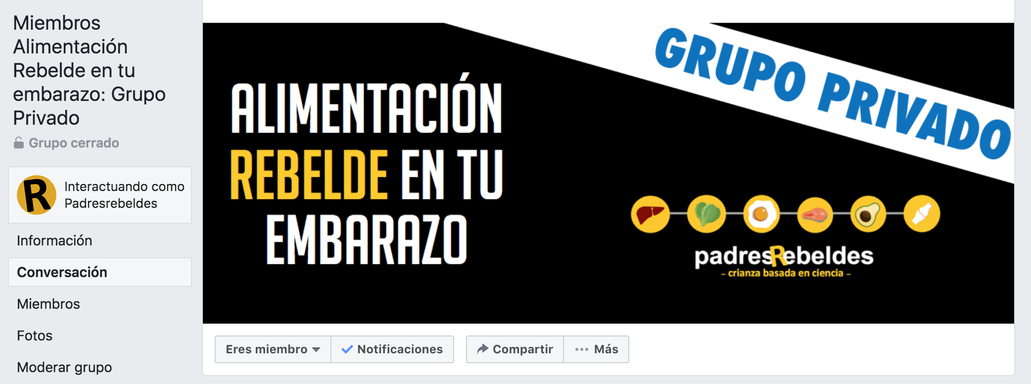 Grupo privado facebook