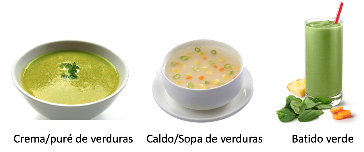 formatos verduras