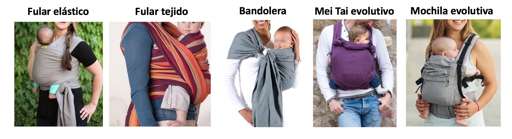 Tipos de portabebes