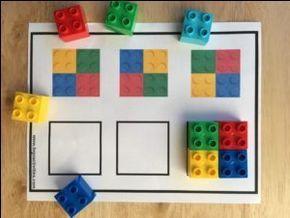 Actividades con niños - patrones de lego