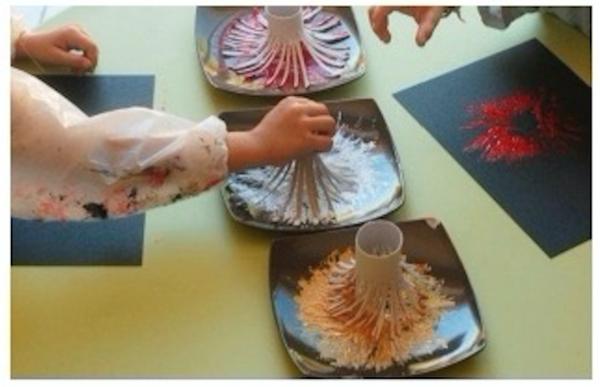 Actividades con niños - pintar sin pincel