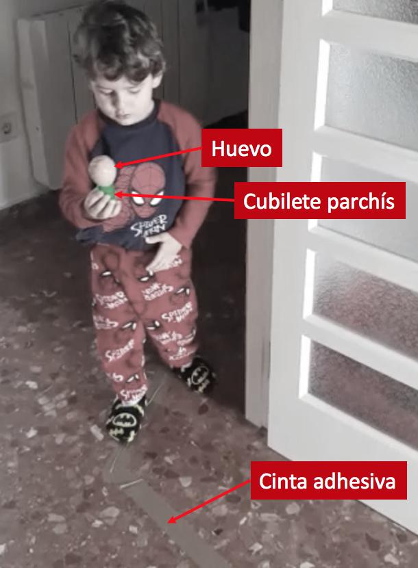 Actividades niños casa - huevo recorrido
