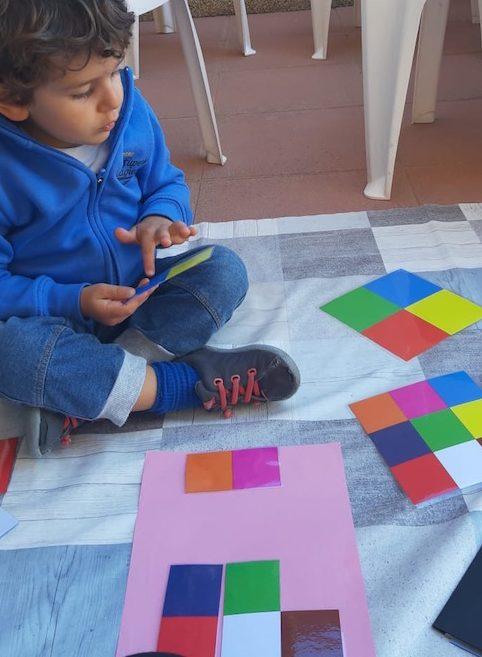 Actividades niños casa - patrones colores