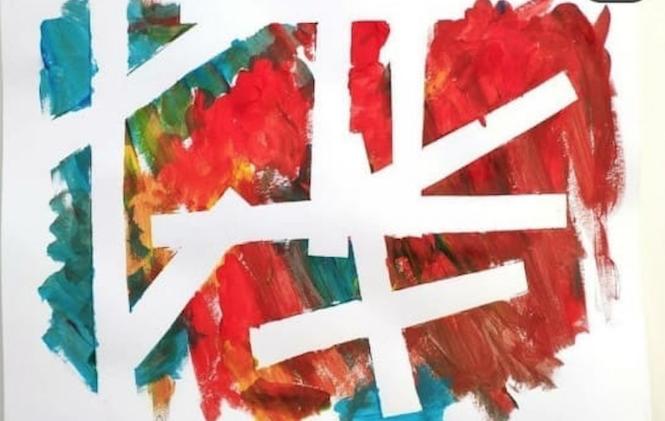 Actividades para niños en casa - pintura moderna
