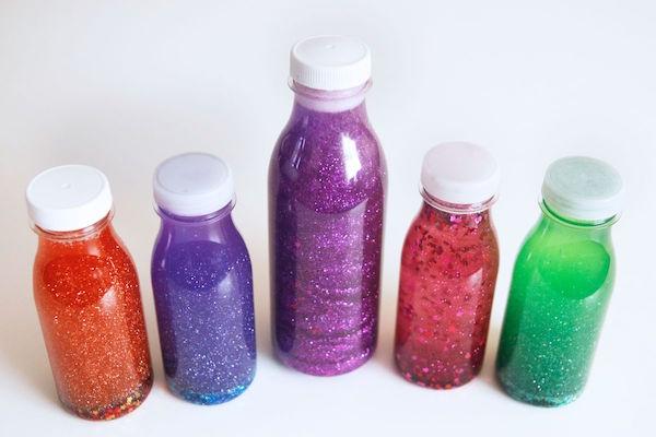Actividades para niños - botellas de la calma