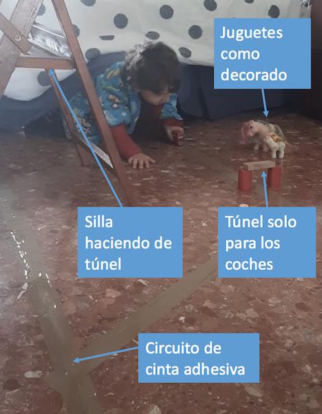 Actividades para niños - circuito cinta