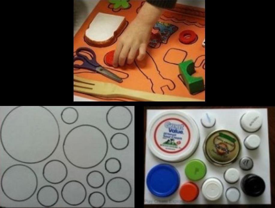 Actividades para niños-objetos en forma