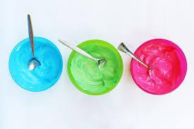 Actividades para niños - pinturas con yogur