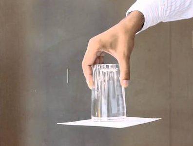 Actividades para niños - vaso agua y cartulina