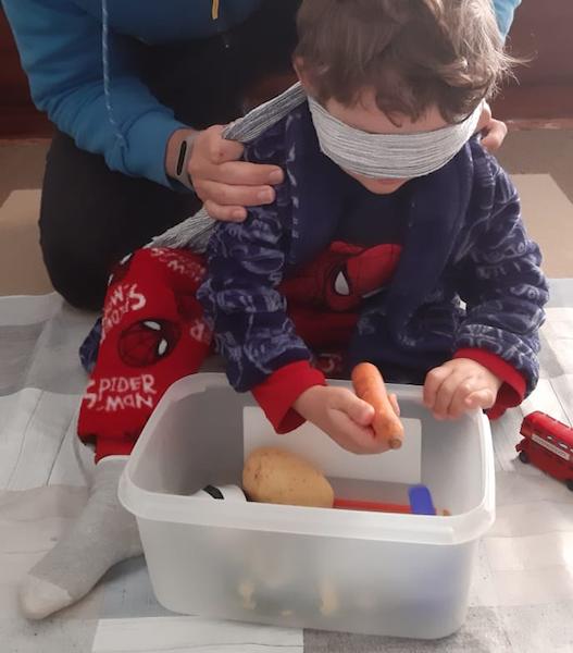actividades con niños en casa - caja oculta