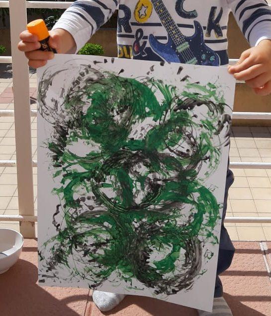 actividades con niños en casa - pintura tiras