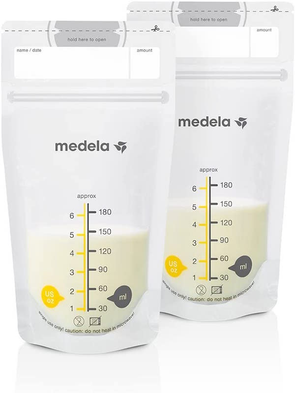 bolsas almacenamiento leche