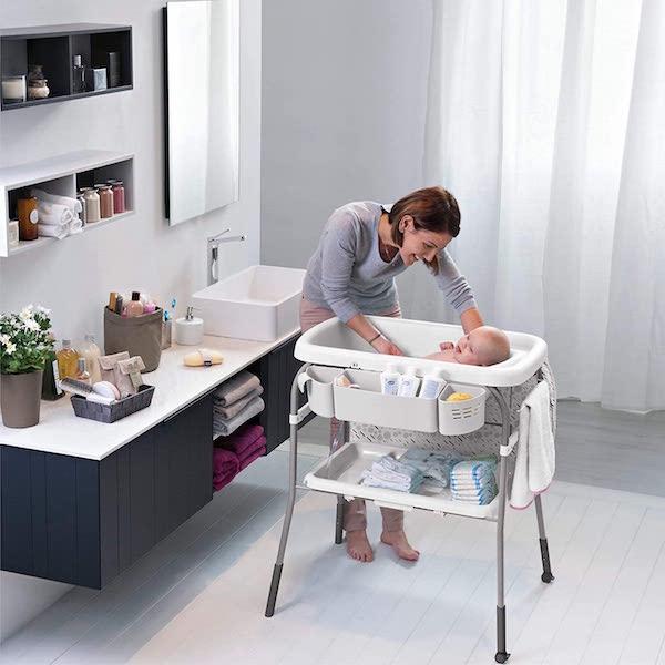 bañera cambiador bebe