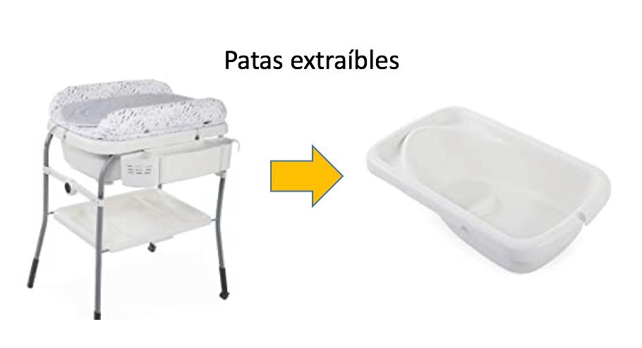 bañeras bebe - patas extraibles